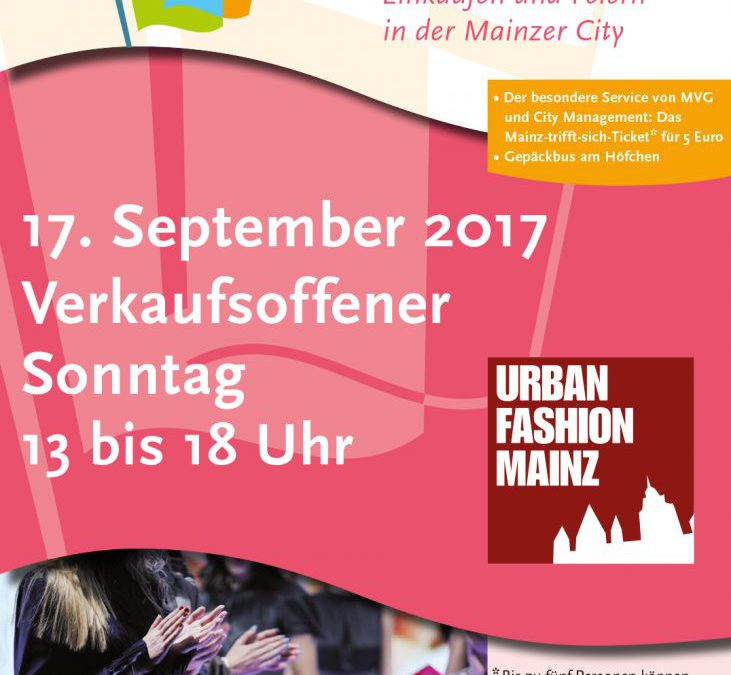 Verkaufsoffener Sonntag, 17.09.2017 / Urban Fashion
