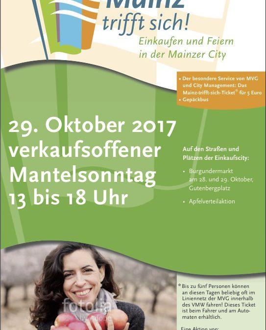 Verkaufsoffener Mantelsonntag, 29.10.2017