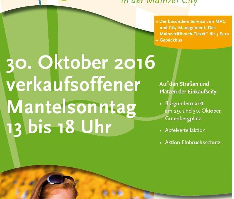 Verkaufsoffener Mantelsonntag,30.10.2016