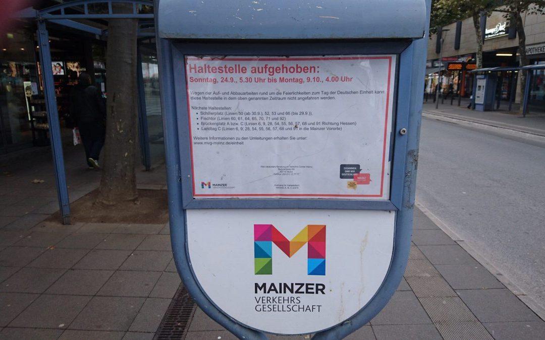 Presse: Tag der Deutschen Einheit: Einbußen für Mainzer Läden – viele Geschäfte bleiben geschlossen
