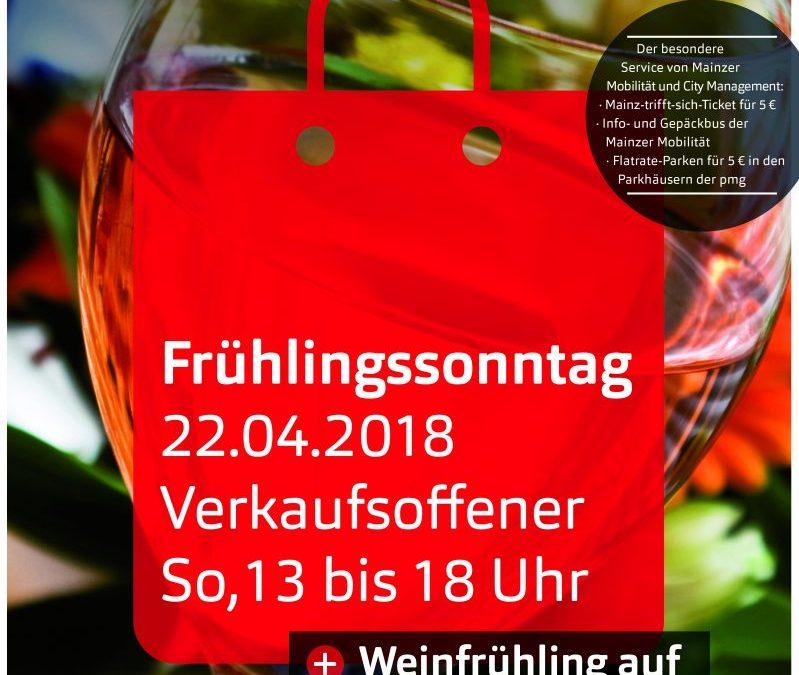 22.04.2018 – Frühlingsfest mit verkaufsoffener Sonntag in der Mainzer Innenstadt