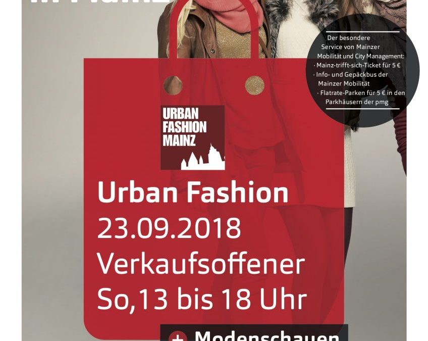 pressebericht ber den kommenden urban fashion event am i verkaufsoffener sonntag in. Black Bedroom Furniture Sets. Home Design Ideas